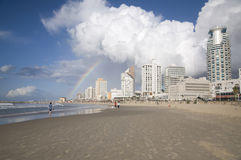 Praia de Telavive Foto de Stock Royalty Free