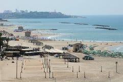 Praia de Telavive, Israel Imagens de Stock