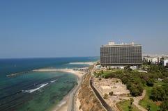 Praia de Telavive, Israel Imagem de Stock