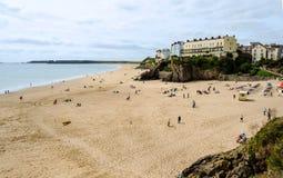 Praia de Tenby em Pembrokeshire – Gales, Reino Unido imagem de stock