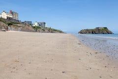 Praia de Tenby, Gales Imagens de Stock