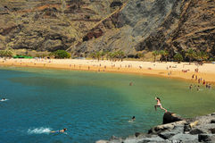 Praia de Teresitas em Tenerife, Ilhas Canárias, Spain Fotos de Stock