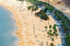 Praia de Teresitas perto de Santa Cruz de Tenerife, Espanha Fotografia de Stock Royalty Free