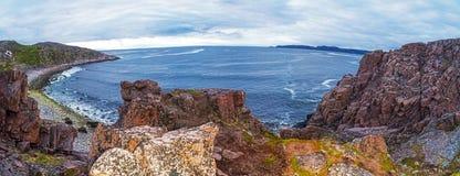Praia de Teriberka Fotos de Stock Royalty Free