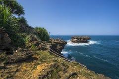 Praia de Timang, Jogjakarta, Indonésia Fotos de Stock