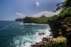 Praia de Timang, Jogjakarta, Indonésia Imagem de Stock Royalty Free