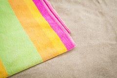 Praia de toalha Fotos de Stock