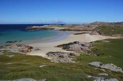 Praia de Torastan, ilha de Coll Imagem de Stock