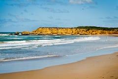 Praia de Torquay - Austrália foto de stock