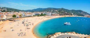 Praia de Tossa de março Costa Brava, Catalonia, Espanha Fotos de Stock Royalty Free