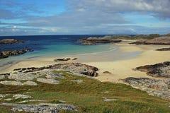 Praia de Trailleach, ilha de Coll Imagens de Stock