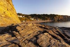 Praia de Tresaith, Ceredigion imagem de stock