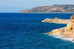 Praia de Tropea, Calabria, Itália Imagens de Stock Royalty Free