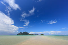 Praia de Tropica Imagem de Stock Royalty Free