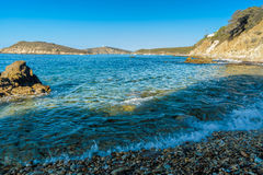 Praia de Tuarredda em sardinia sul Foto de Stock