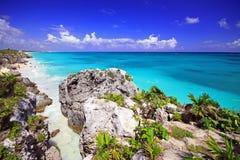 Praia de Tulum Imagens de Stock