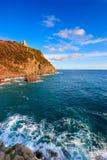 Praia de Tuscan perto de Livorno, Italy Fotos de Stock