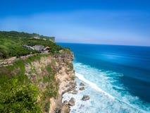 Praia de Uluwatu, Bali, Indonésia fotografia de stock