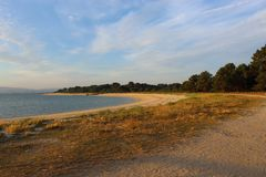 Praia de um parque atlântico fotos de stock royalty free