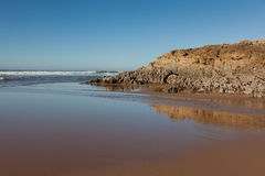Praia de Valdearenas, Liencres imagem de stock royalty free