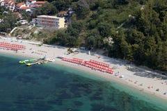 Praia de Valtos perto de Parga em Grécia Fotografia de Stock Royalty Free