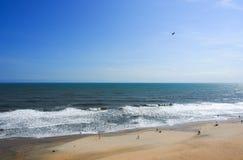 Praia de Varkala Foto de Stock Royalty Free