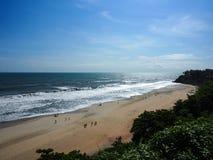 Praia de Varkala Fotografia de Stock