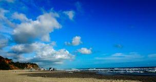 Praia de Varkala Fotos de Stock Royalty Free