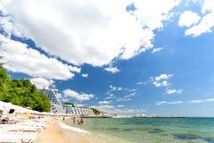 Praia de Varna no Mar Negro imagens de stock