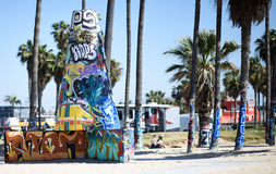 Praia de Veneza, CA fotografia de stock