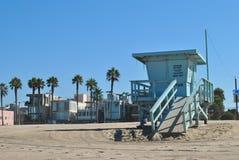 Praia de Veneza da cabana de Baywatch imagem de stock