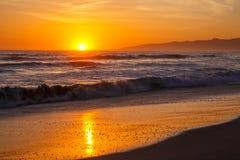 Praia de Veneza do por do sol Foto de Stock Royalty Free