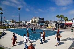 Praia de Venise, Santa Monica, Califórnia Fotos de Stock