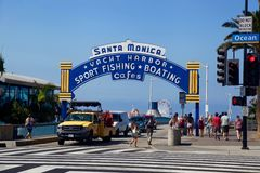 Praia de Venise, Santa Monica, Califórnia Imagem de Stock Royalty Free