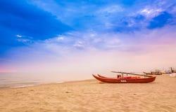 Praia de Viareggio, Versilia, Toscânia, Itália Fotografia de Stock Royalty Free