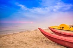 Praia de Viareggio, Versilia, Toscânia, Itália Imagem de Stock