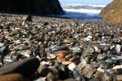 Praia de vidro Imagens de Stock