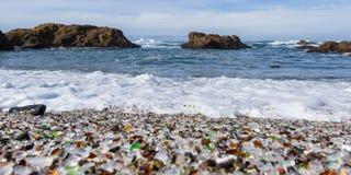 Praia de vidro, Fort Bragg Califórnia Fotos de Stock Royalty Free