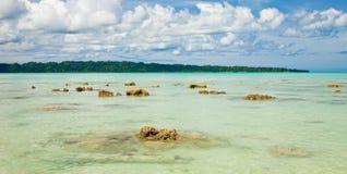 Praia de Vijaynagar no console de Havelock Fotos de Stock Royalty Free