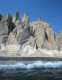 Praia de Vlichada foto de stock