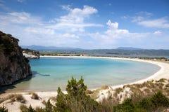 Praia de Voidokilia imagens de stock