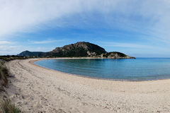 Praia de Voidokoilia, Grécia imagens de stock