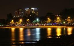 Praia de Vung Tau na noite foto de stock royalty free