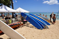 Praia de Waikiki Fotos de Stock Royalty Free