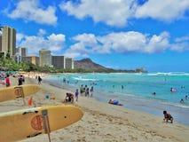 Praia de Waikiki Foto de Stock Royalty Free