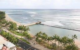 Praia de Waikiki imagens de stock