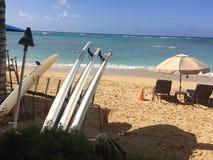 Praia de Waikiki Imagens de Stock Royalty Free