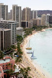 Praia de Waikiki em Havaí imagens de stock royalty free