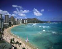 Praia de Waikiki, Havaí Fotografia de Stock Royalty Free