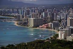 Praia de Waikiki - Honolulu, Havaí Foto de Stock Royalty Free